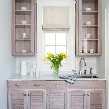 Stuart Kitchens · Gray Oak Butler Pantry Cabinets