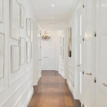 Hallway Ornate Wall Trim Moldings Design Ideas