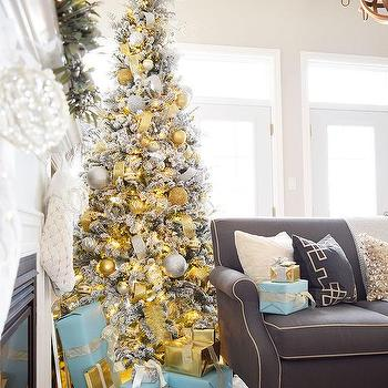 Grey And Gold Christmas Decor  M Silver And Gold Christmas Tree Decorations