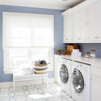 Stuart Kitchens · Laundry Room With Blue Walls