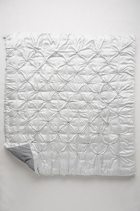 Light Grey Silk Quilt : gathered quilt - Adamdwight.com