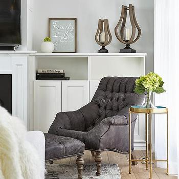 Round Gray Accent Table Design Ideas