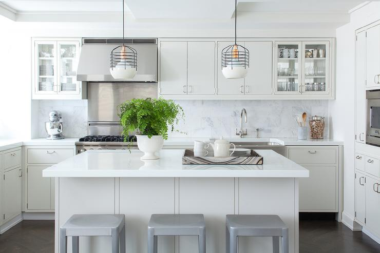 Brushed Aluminum Kitchen Counter Stools Design Ideas