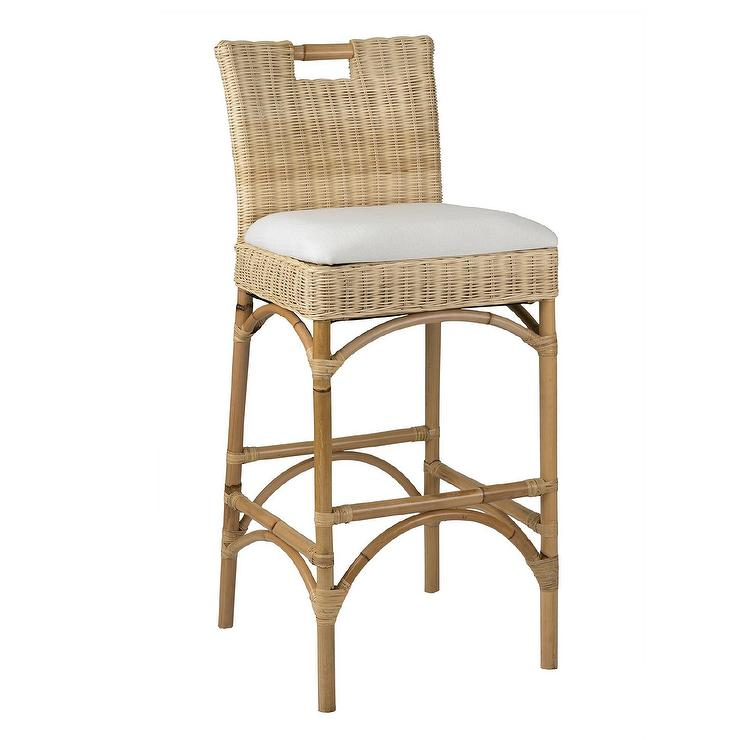 St Bart S Chair Height Stool Ballard Designs