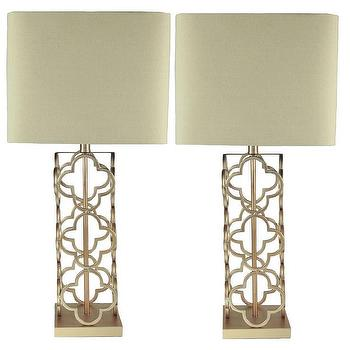 Karmin ivory gold table lamps