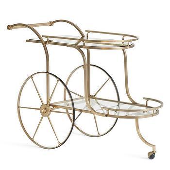 Glass And Brass Bar Cart - Look 4 Less