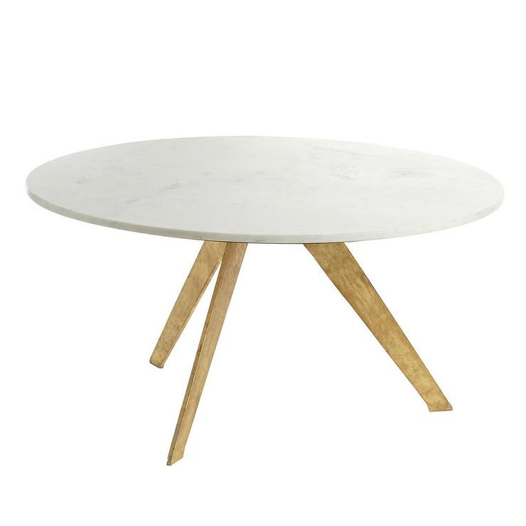 a72abc40986f Mid Century Modern White Marble Coffee Table
