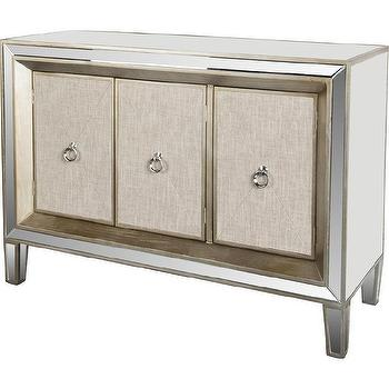 Cassidy Nautral Wood Miorrored Buffet