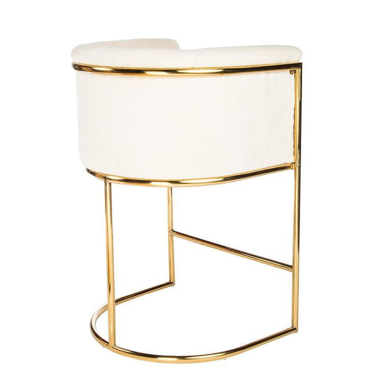 Ida Chrome Plated Metal Base Counter Height Stool