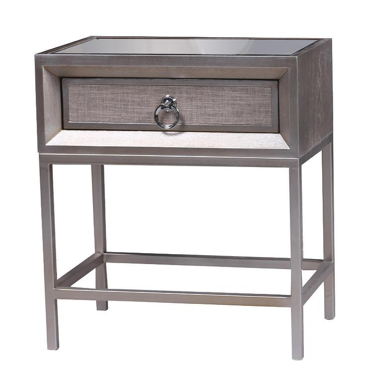 1 Drawer Linen Nightstand