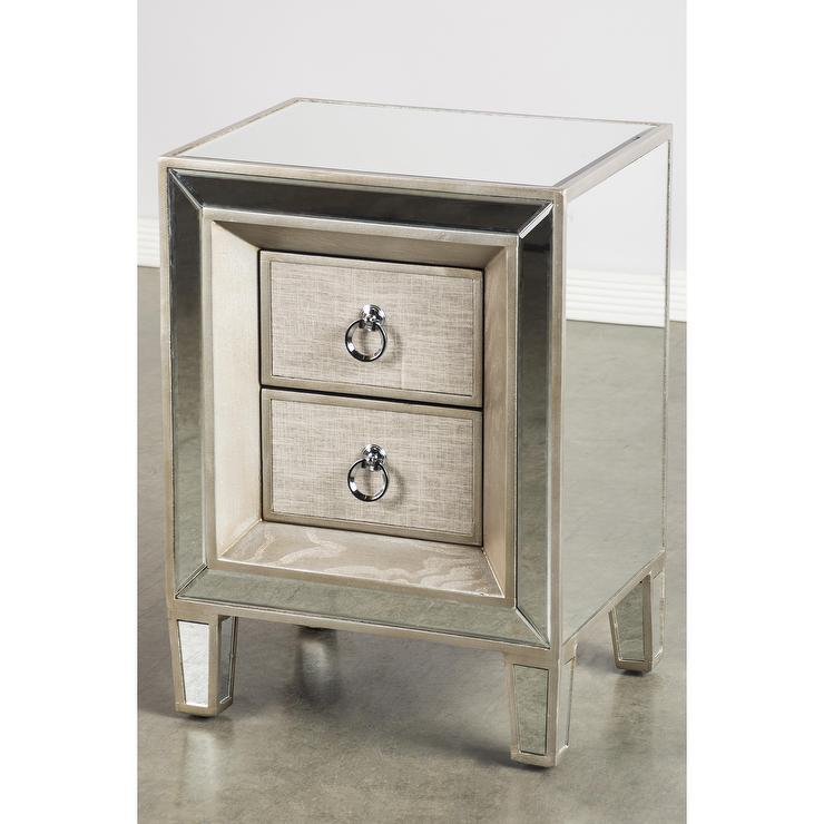 2 Drawer Linen Nightstand