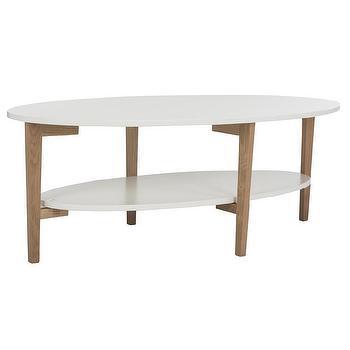Safavieh Mid Century Woodruff Oval Coffee Table