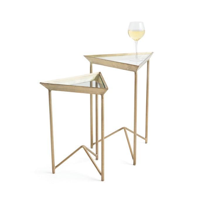 sc 1 st  Decorpad & Warwick Vintage Gold Triangular Tables Set
