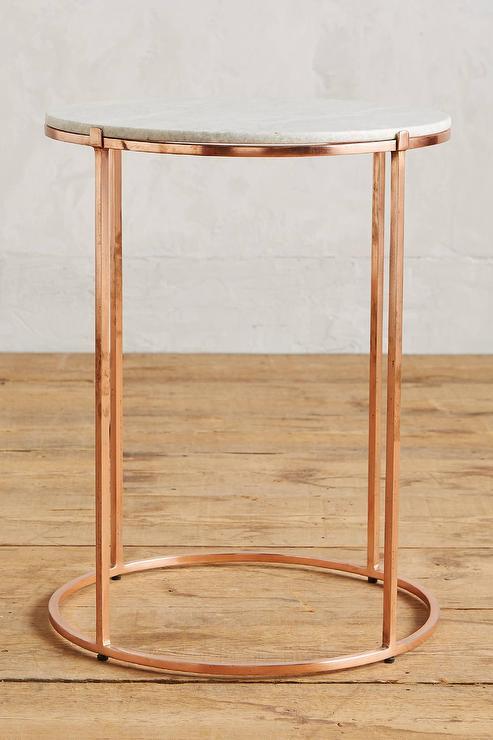 brass leavenworth marble side table. Black Bedroom Furniture Sets. Home Design Ideas