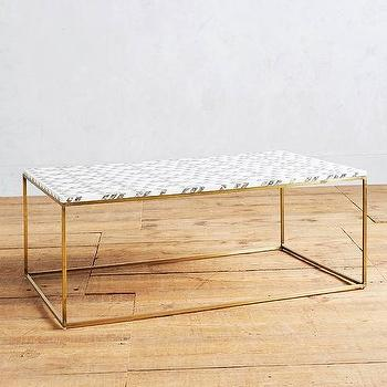 Dwellstudio Black And White Chevron Coffee Table