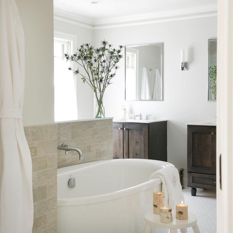 Bathroom Wall with Tub Filler - Transitional - Bathroom