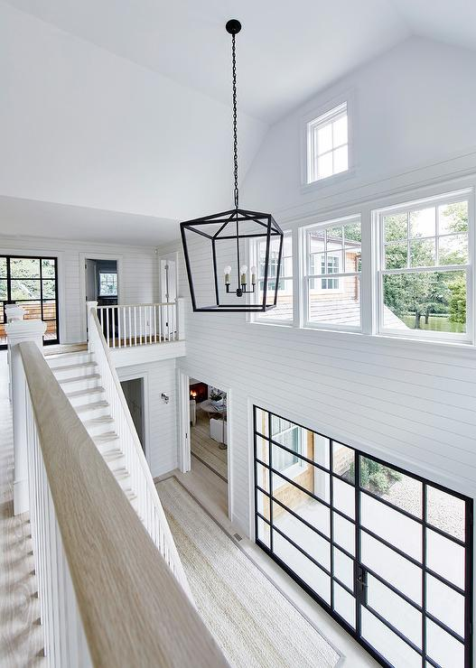 Admirable Two Story Cottage Foyer With Shiplap Trim Cottage Download Free Architecture Designs Embacsunscenecom