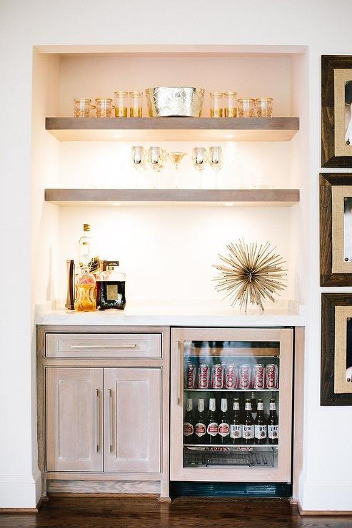 Gray Wash Bar Shelves