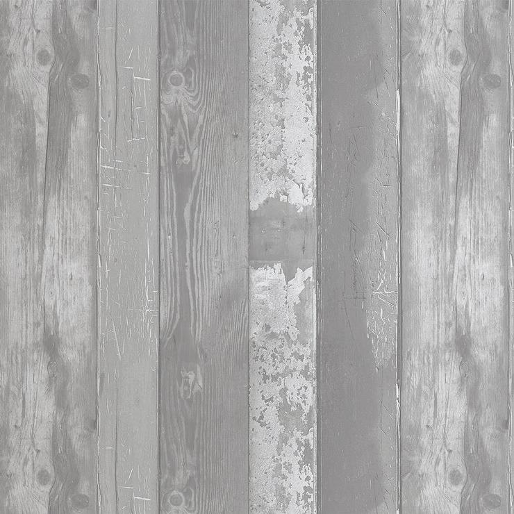 Grey Wood Pattern Wallpaper