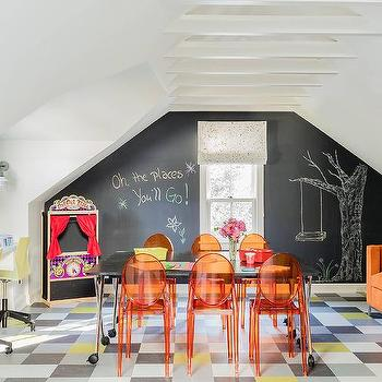 Girls Playroom with Orange Sofa : attic playroom ideas  - Aeropaca.Org