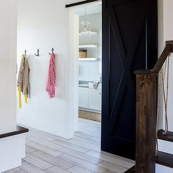 Wood Like Hallway Floor Tiles Design Ideas