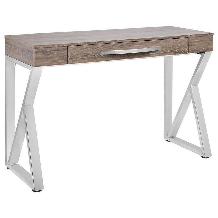 Excellent Triangular Metal Legs Wood Desk LY66