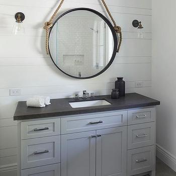 Honed Black Granite Bath Vanity Top Design Ideas