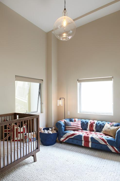Union Jack Chesterfield Sofa Contemporary Nursery