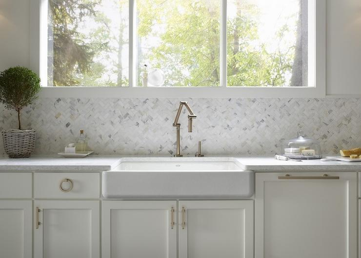 Nice Shallow Apron Sink With Wall Mount Brass Pivot Faucet