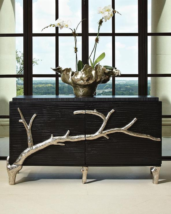 Preferred Global Views Silver Branch 2 Door Console BC85