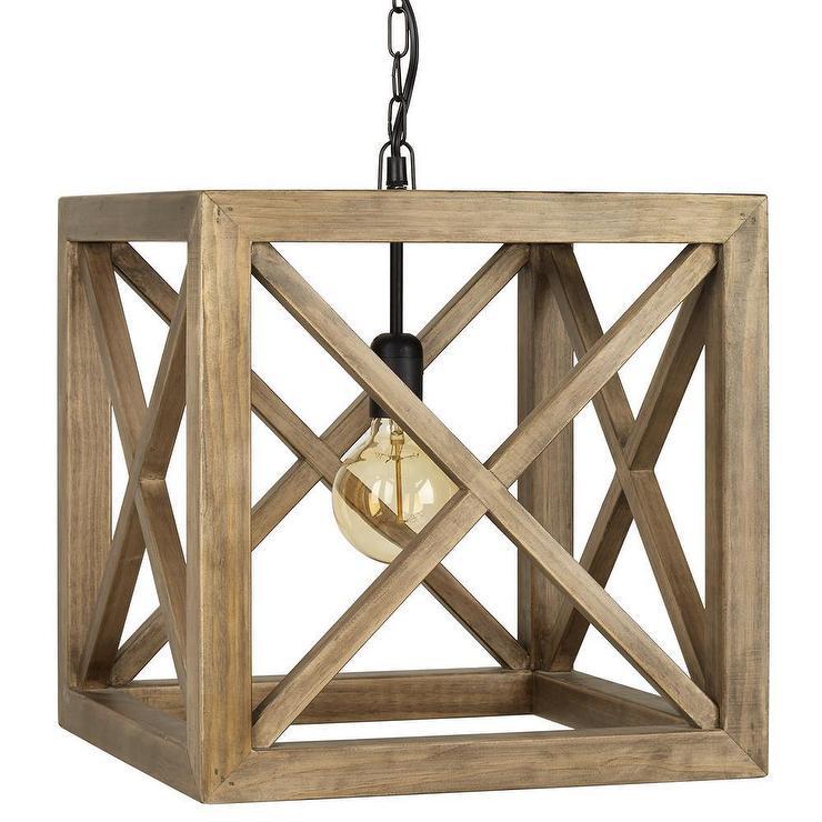 sc 1 st  DecorPad & Wooden Cube Pendant Ceiling Lamp