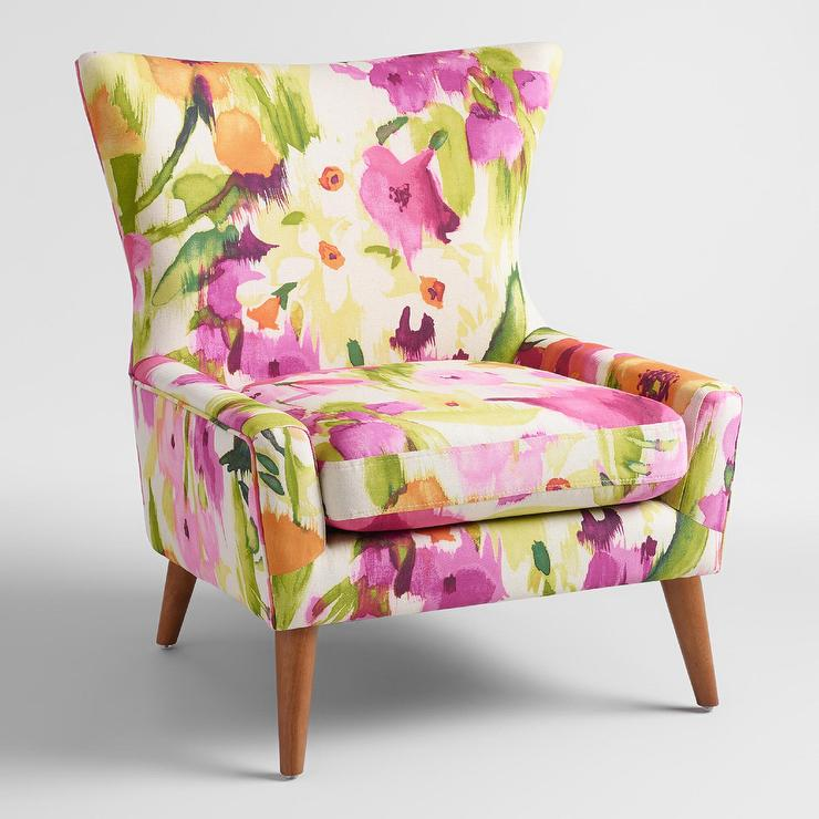 Unique Floral Accent Chair Decoration Ideas