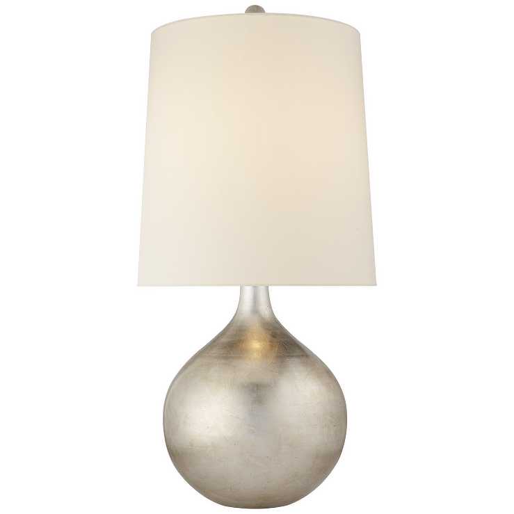 Warren Round Silver Table Lamp