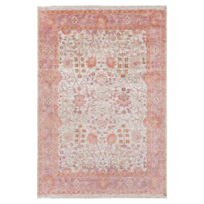 Springfield traditional pink floral rug mightylinksfo