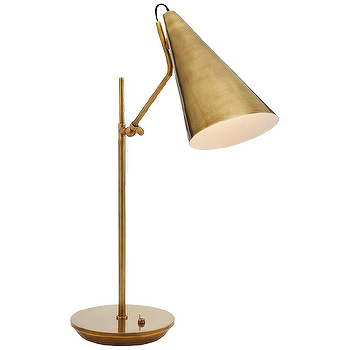 Layla Textured Gold Black Shade Table Lamp