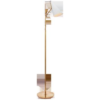 Gold Gothic Revival Floor Lamp