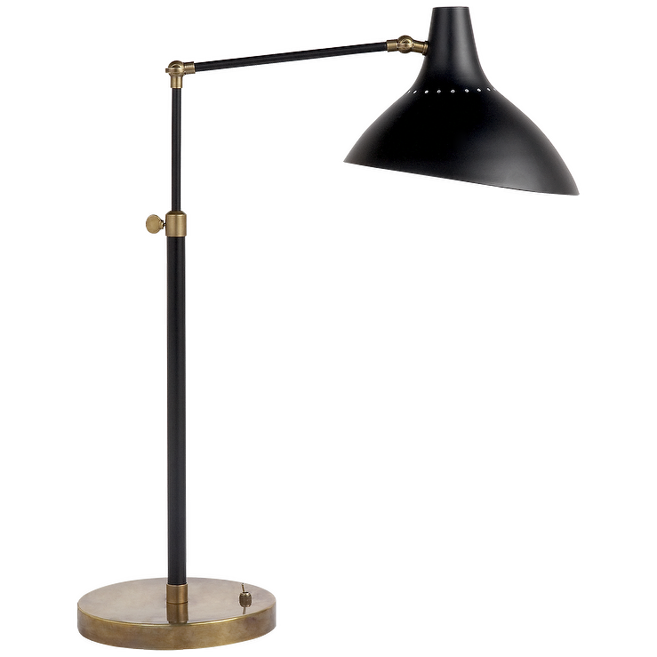 Charlton Black Brass Base Table Lamp