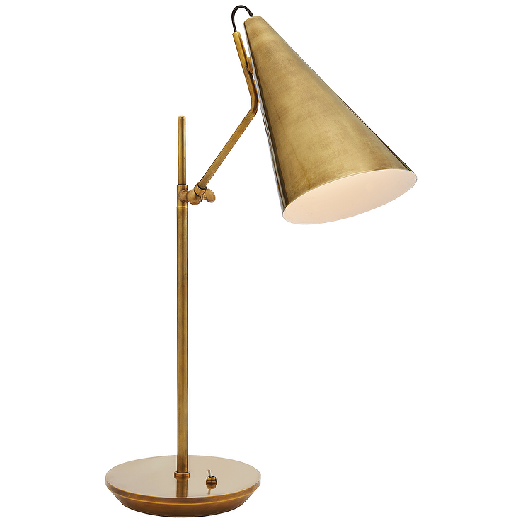Aerin clemente brass floor lamp for Clare brass floor lamp