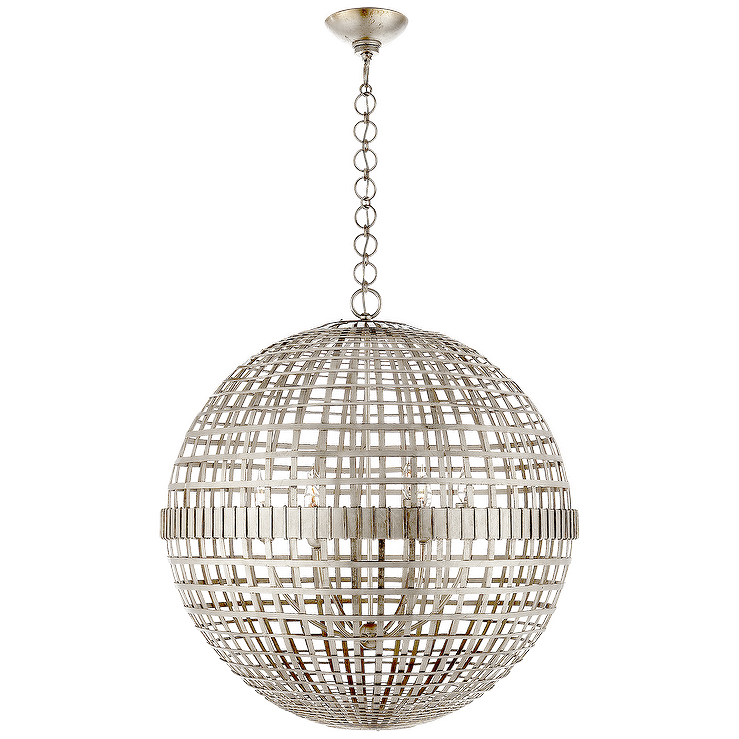 Unique Mill Silver Orb Ceiling Light VS32