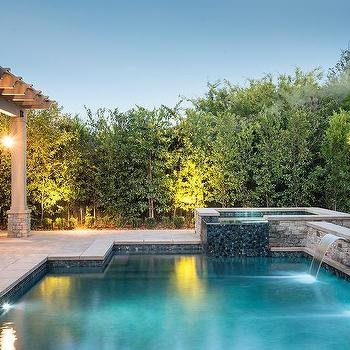 Ocean Blue Glass Pool Tiles Design Ideas