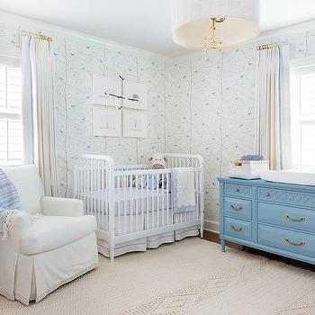 White And Blue Nursery Color Scheme