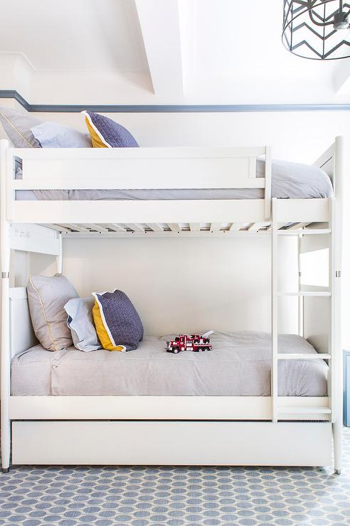 white bunk bed with trundle bed view full size