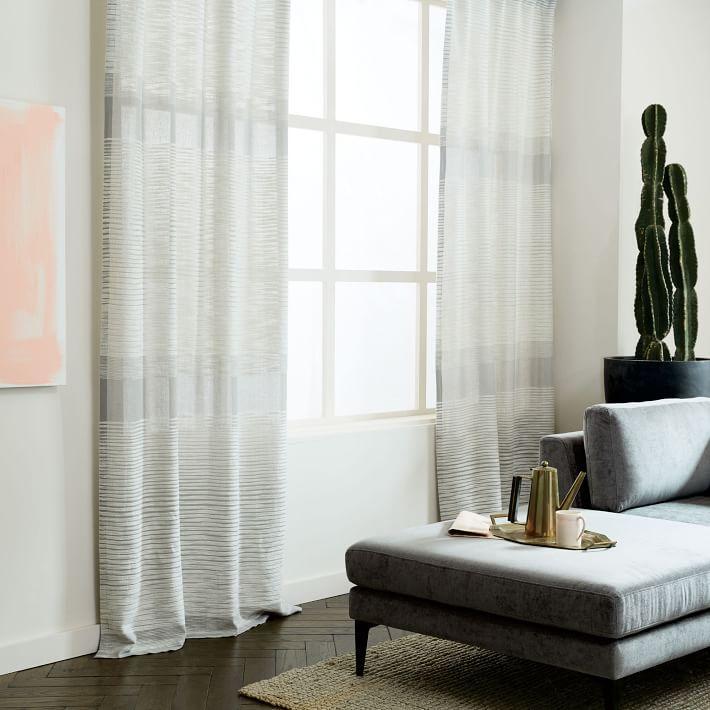 Gray Stripe Curtain