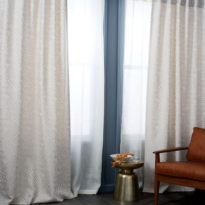 New Nesting Ivory Diamond Curtains WG48