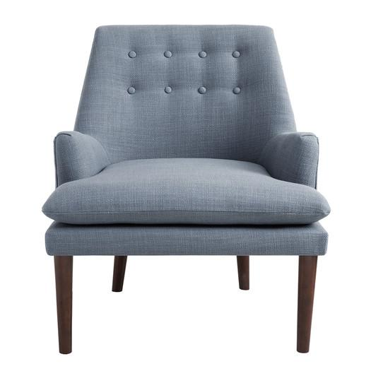 Carncome Blue Tufted Accent Chair
