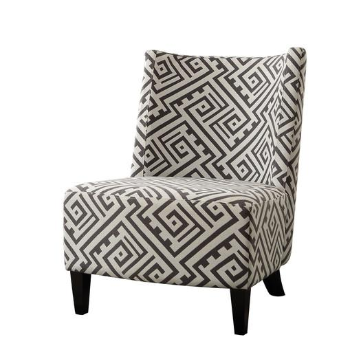 Maggie Maze Pattern Armless Slipper Chair