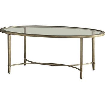curtis antique glass coffee table