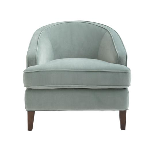 Nicholas Blue Curved Back Club Chair