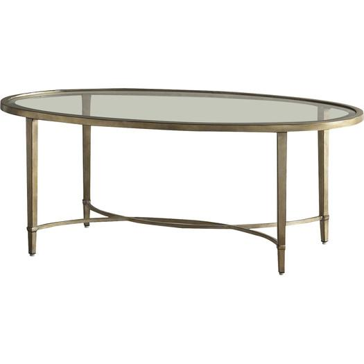 Montague oval glass gold coffee table Glass oval coffee tables