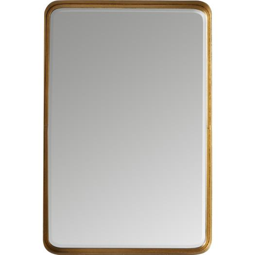 Gold Rectangle Rounded Edges Mirror